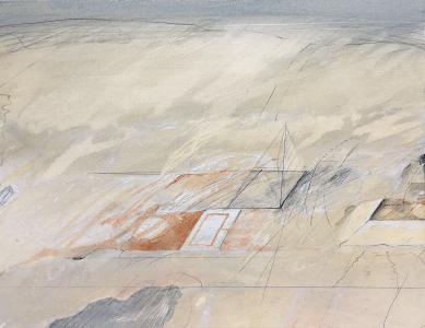 Archäologische Landschaft (Platz-Rekonstruktion), 1982