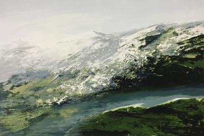 Landschaftsfragment (Fluss), 1990