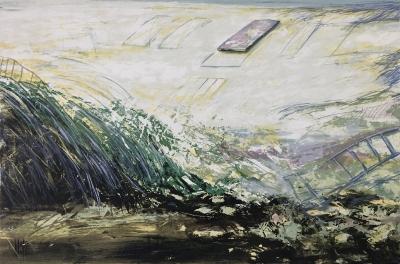 Archäologische Landschaft (Fundament), 1990