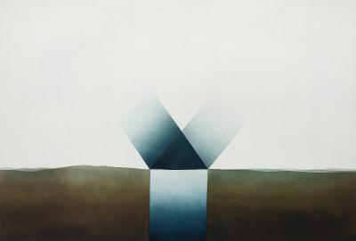 Landschaft mit Lichtschacht, 1975