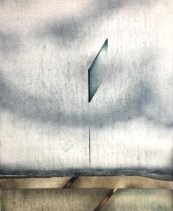 Landschaftszeichen mit Erdriss, 1973