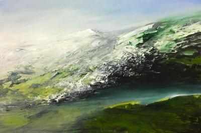 Landschaftsfragment (Fluss), 1986