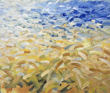 Landschaftsfragment (für Vincent van Gogh), 1986