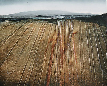 Landschaftsrelief, eisenhaltig Nr. 3, 1980