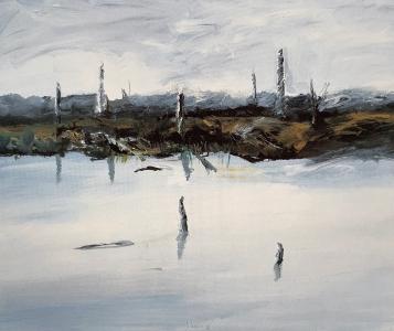 Moorlandschaft III (Venner Moor), 1986