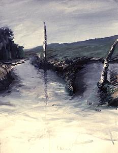 Studie zu Moorlandschaft III, 1986