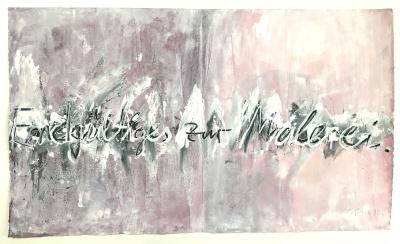 Tagebuch (Endgültiges zur Malerei), 1992