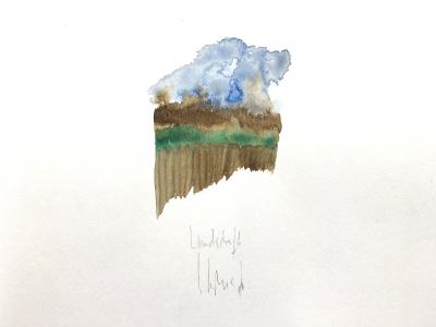 Kleine Landschaft (Fragment), 1976
