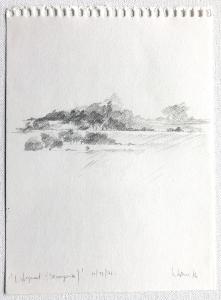 Landschaftsfragment (Baumgrenze), 1976