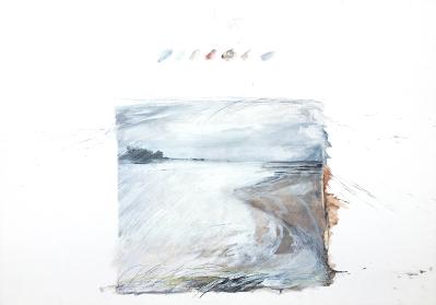 Landschaftsfragment II, 27.3.1983