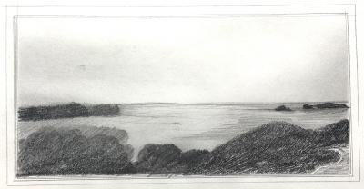 Landschaftsstudie, 13.8.1976