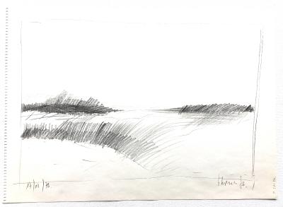 Landschaftsstudie, 17.12.1976