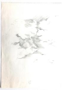 Wolkenstudie, 9.8.1976